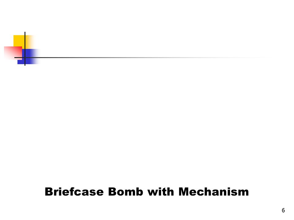 Briefcase Bomb with Mechanism