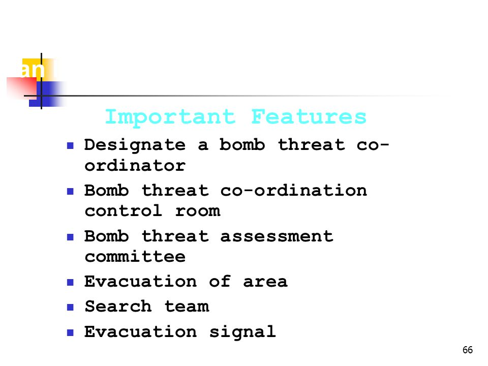 Bomb Threat Contingency Plan for an Industry
