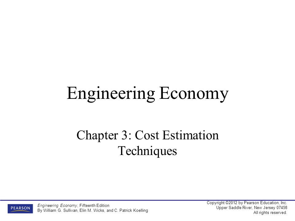 Chapter 3: Cost Estimation Techniques