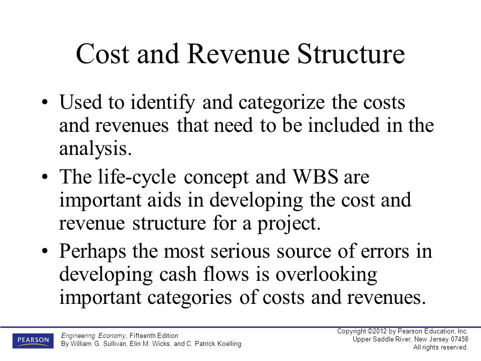 Cost and Revenue Structure