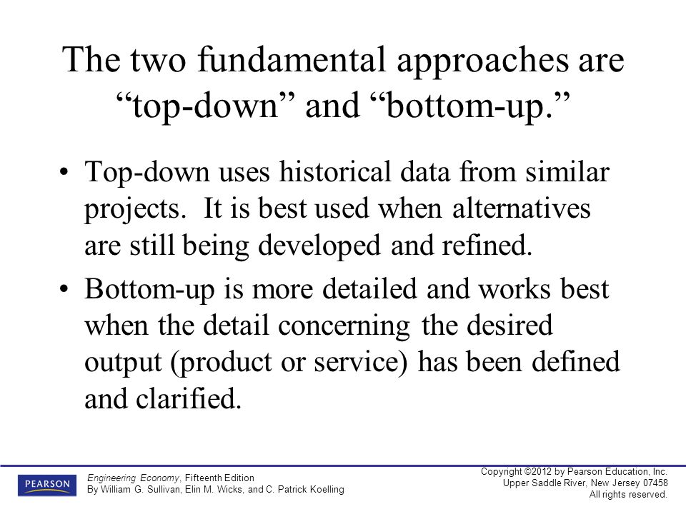 The two fundamental approaches are top-down and bottom-up.