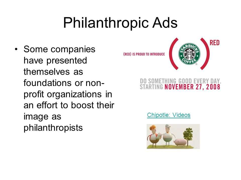 Philanthropic Ads