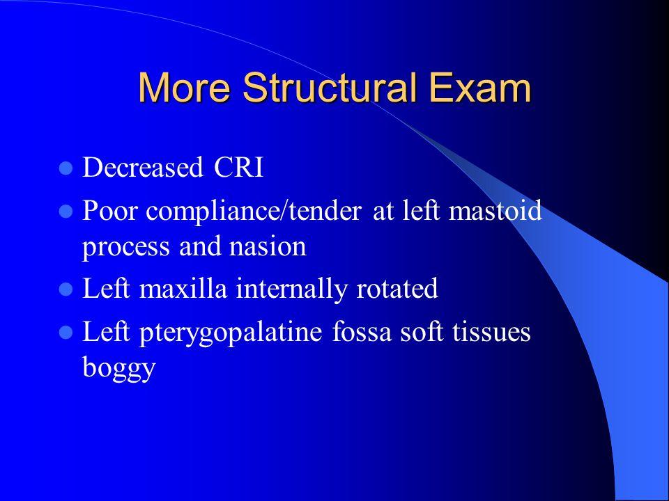 More Structural Exam Decreased CRI