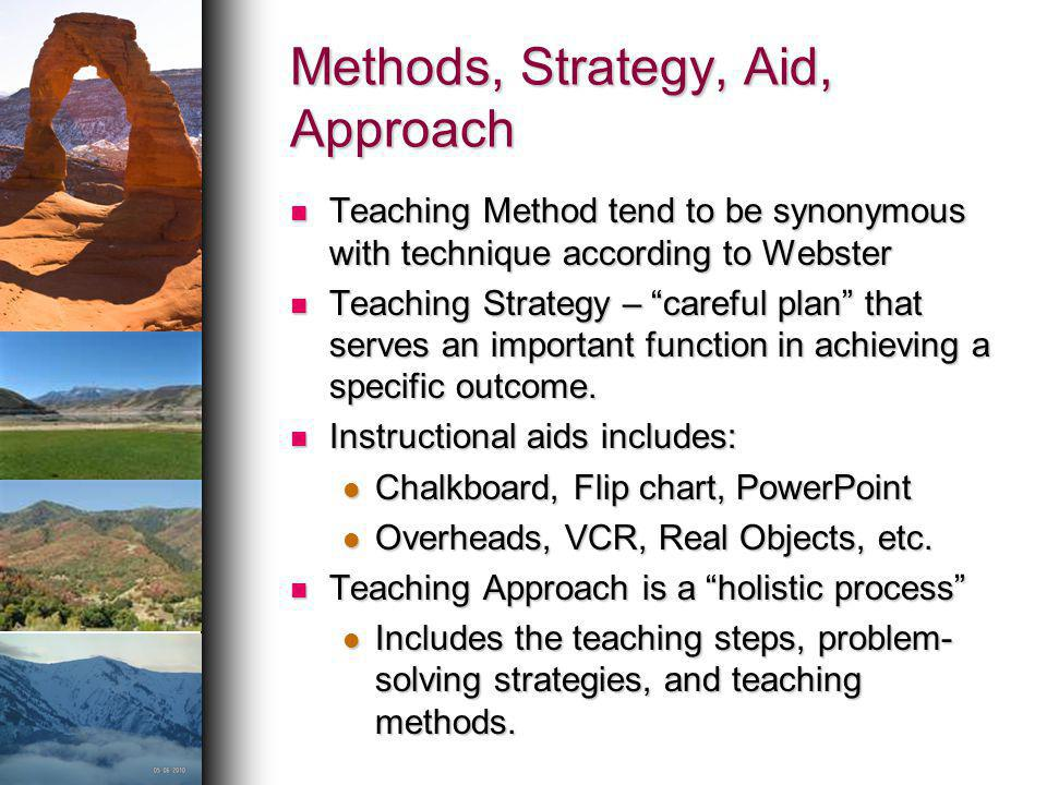 Methods, Strategy, Aid, Approach