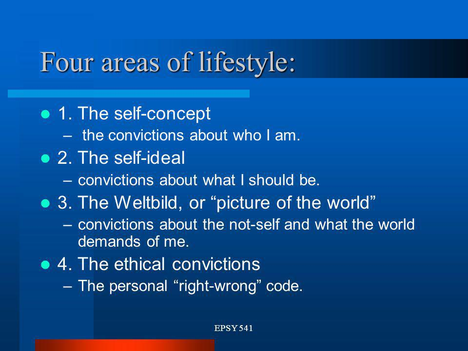 Four areas of lifestyle: