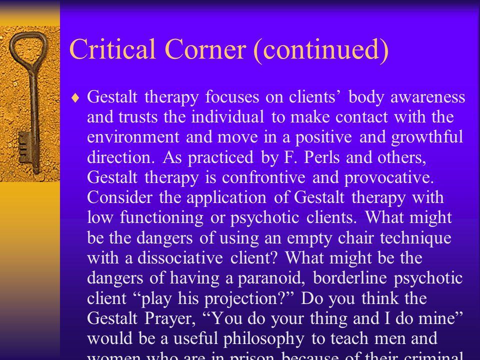 Critical Corner (continued)