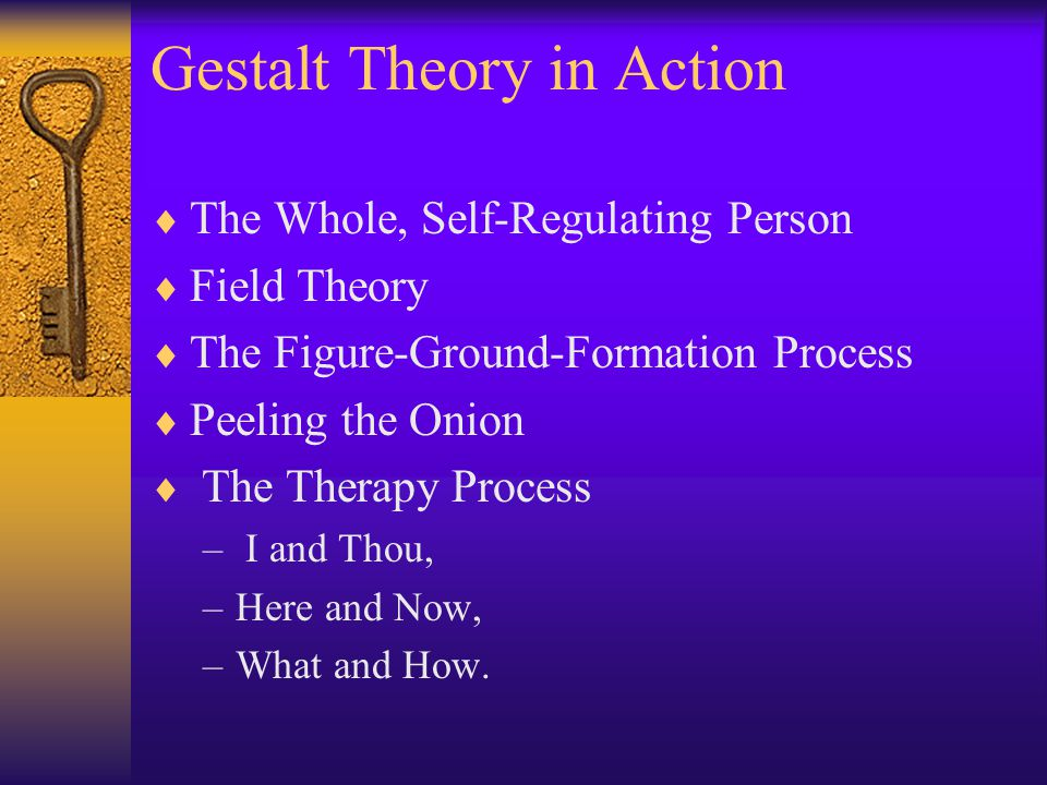 Gestalt Theory in Action
