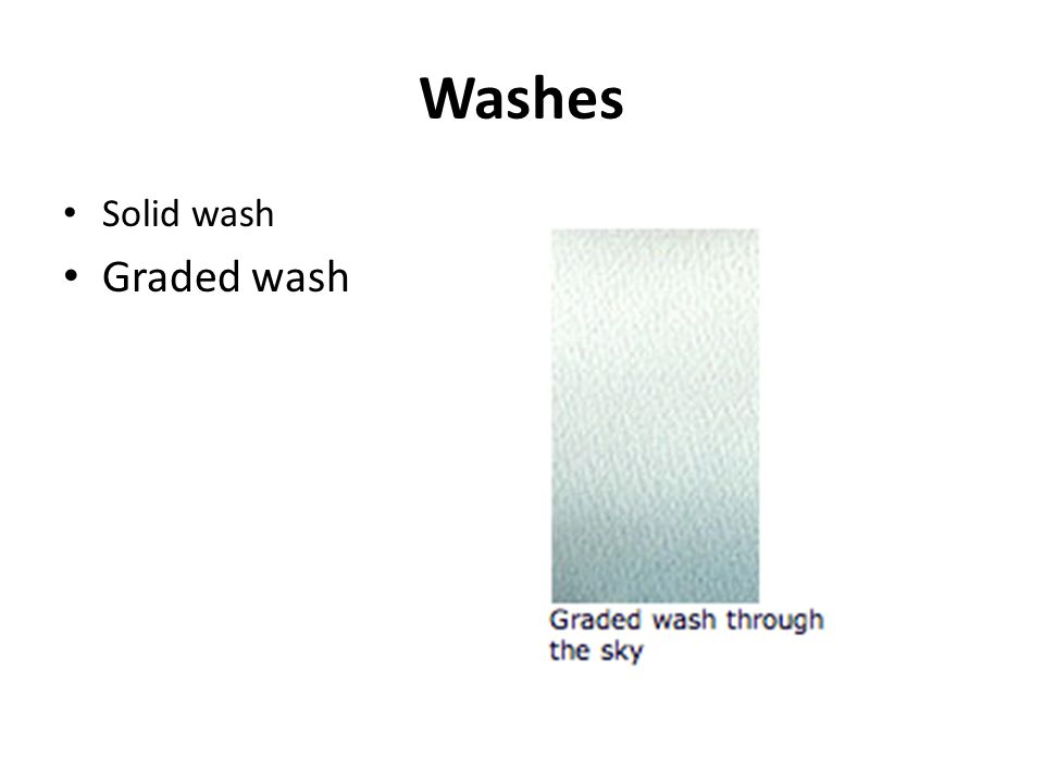 Washes Solid wash Graded wash