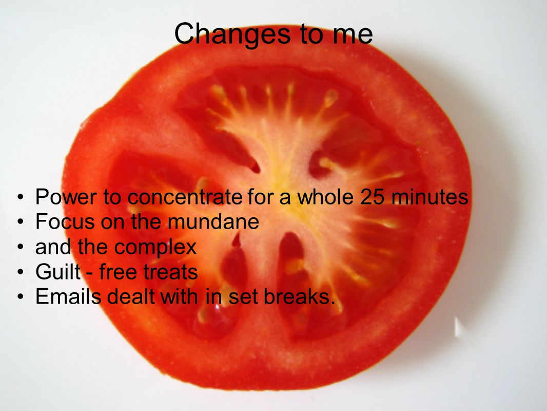 Changes to me Power to concentrate for a whole 25 minutes