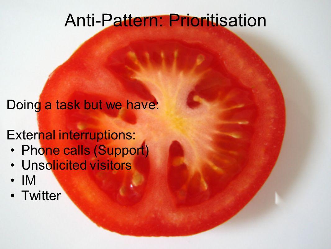 Anti-Pattern: Prioritisation