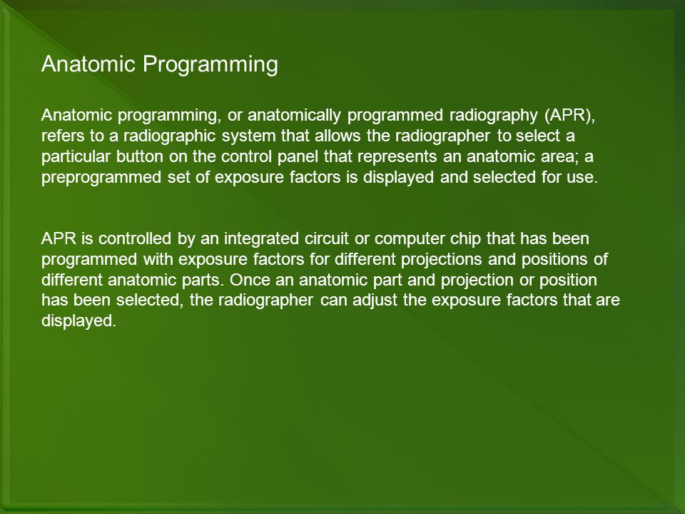 Anatomic Programming