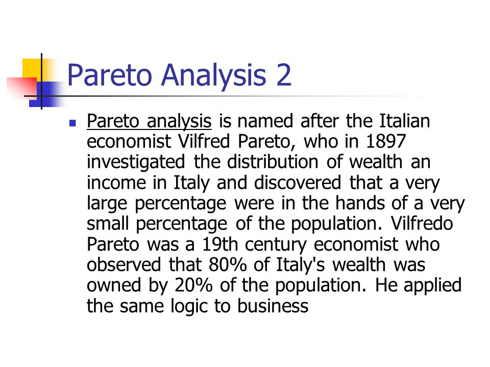 Pareto Analysis 2