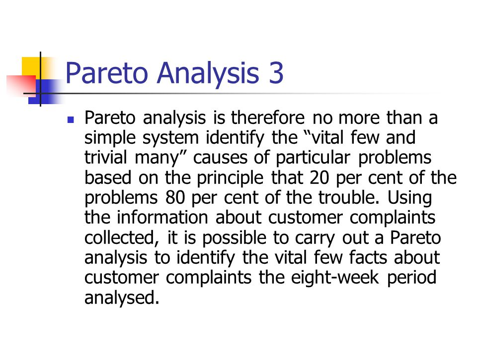 Pareto Analysis 3