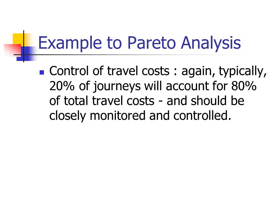Example to Pareto Analysis