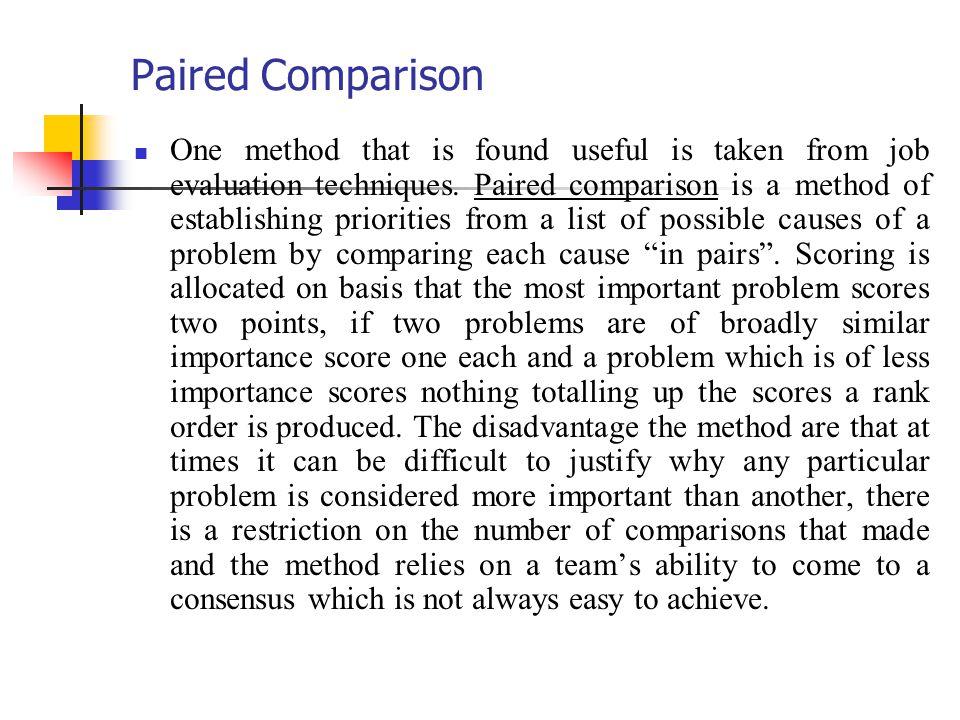 Paired Comparison