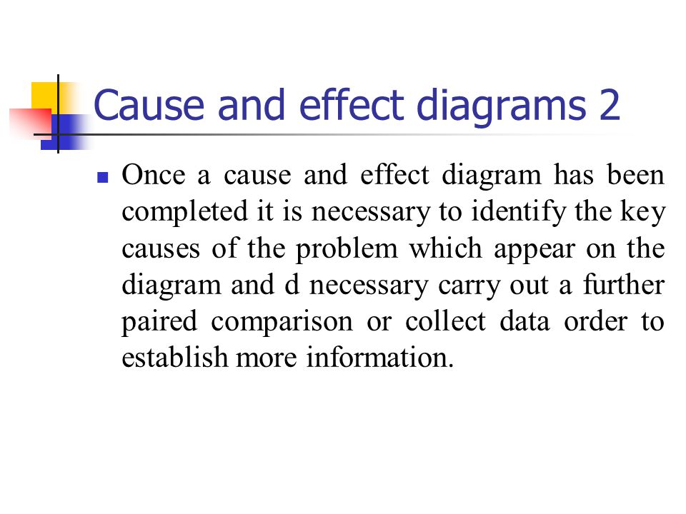 Cause and effect diagrams 2
