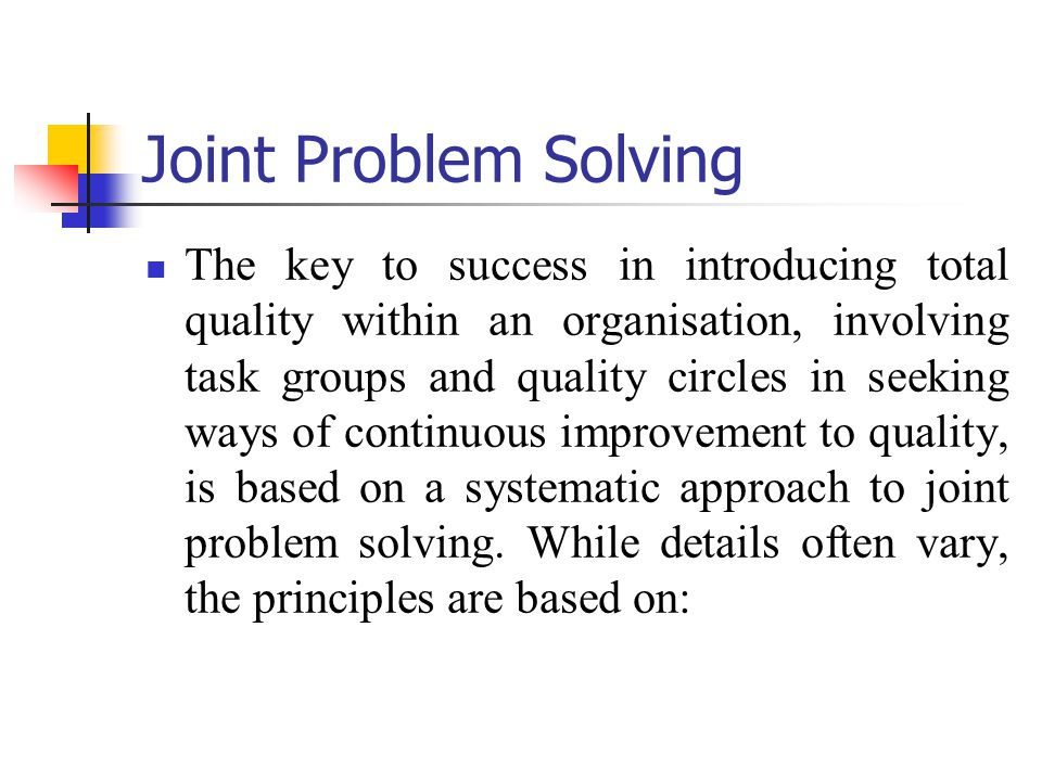 Joint Problem Solving