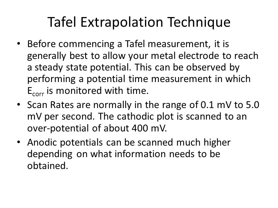 Tafel Extrapolation Technique