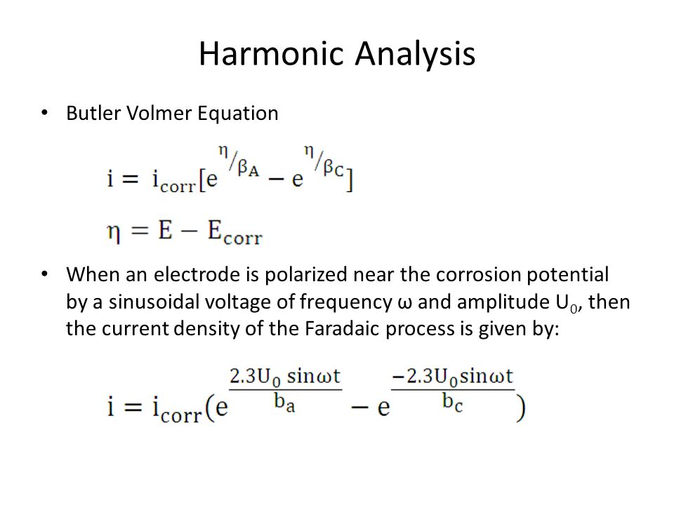 Harmonic Analysis Butler Volmer Equation