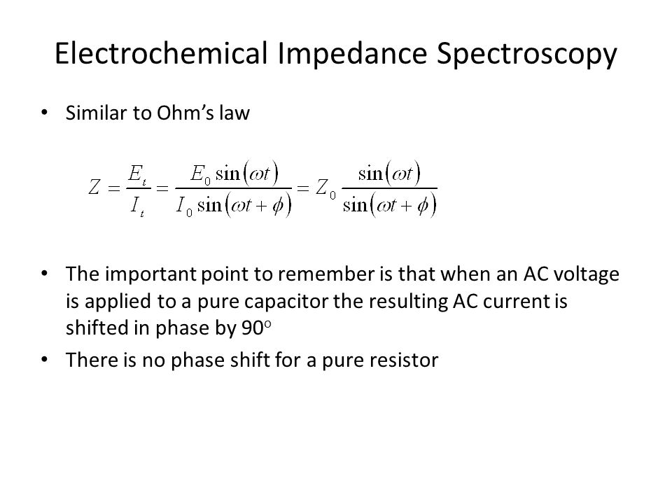 Electrochemical Impedance Spectroscopy