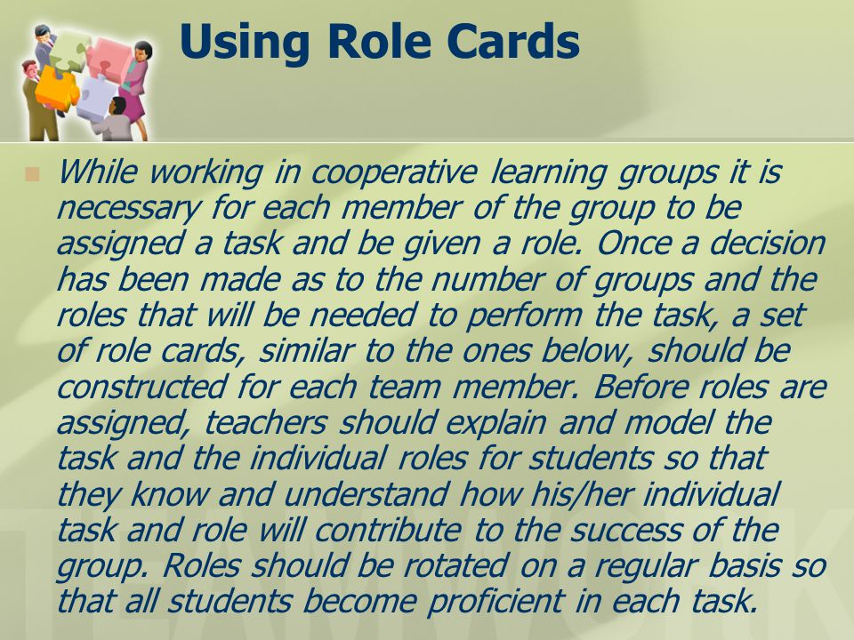Using Role Cards