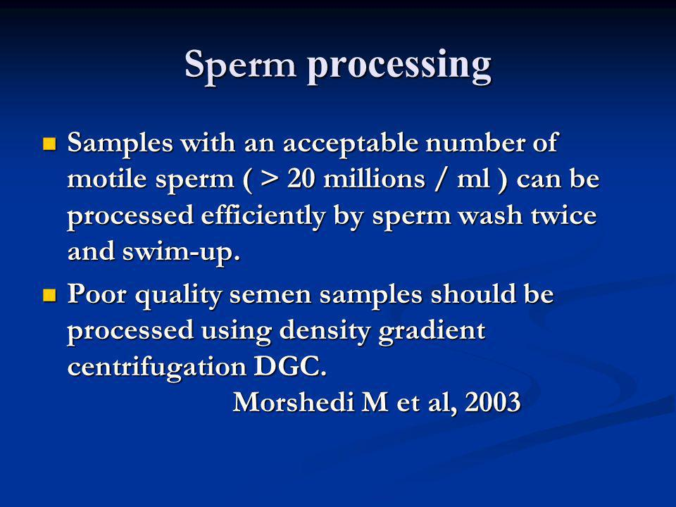 Sperm processing