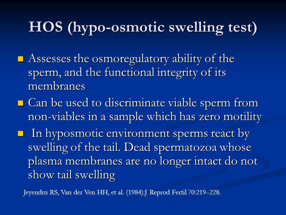 HOS (hypo-osmotic swelling test)