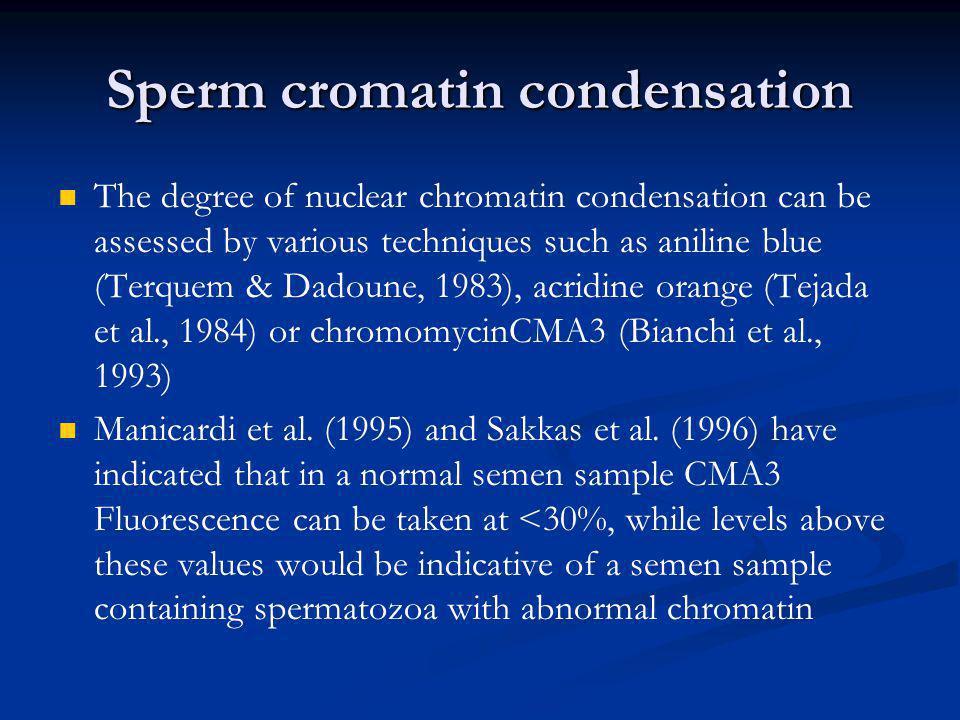 Sperm cromatin condensation