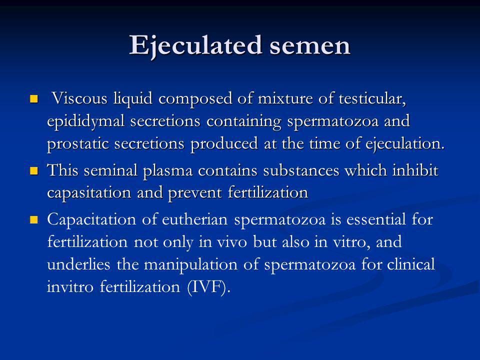 Ejeculated semen