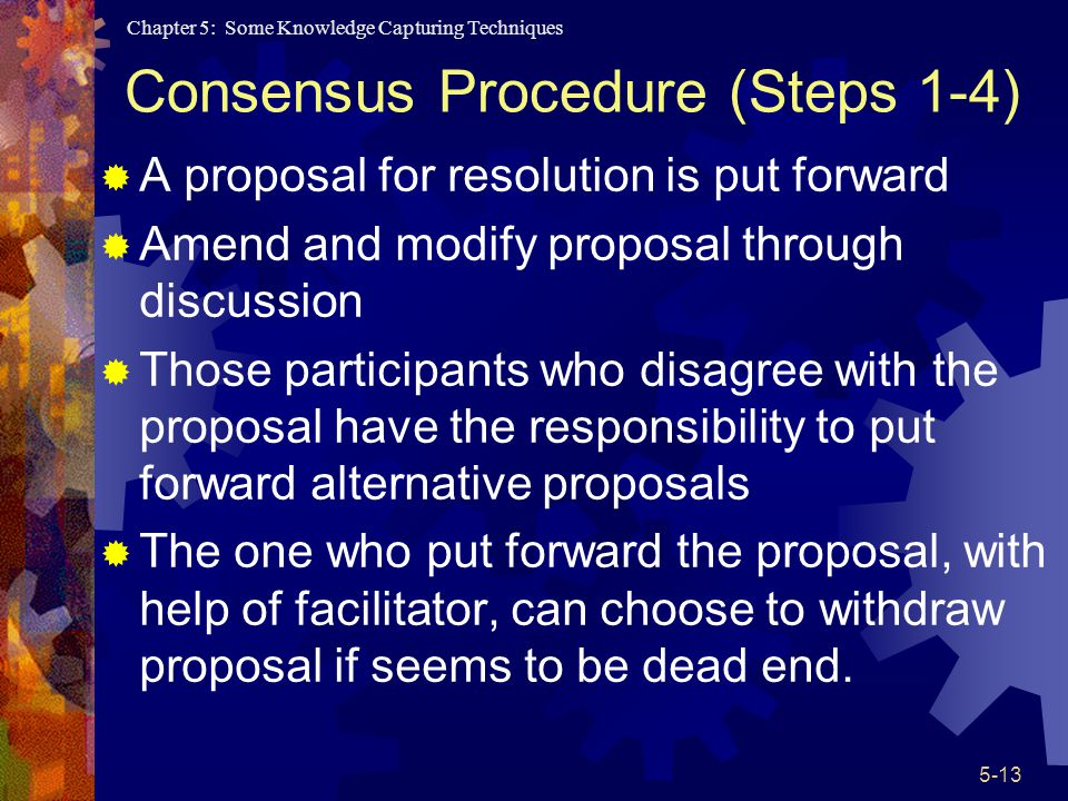 Consensus Procedure (Steps 1-4)