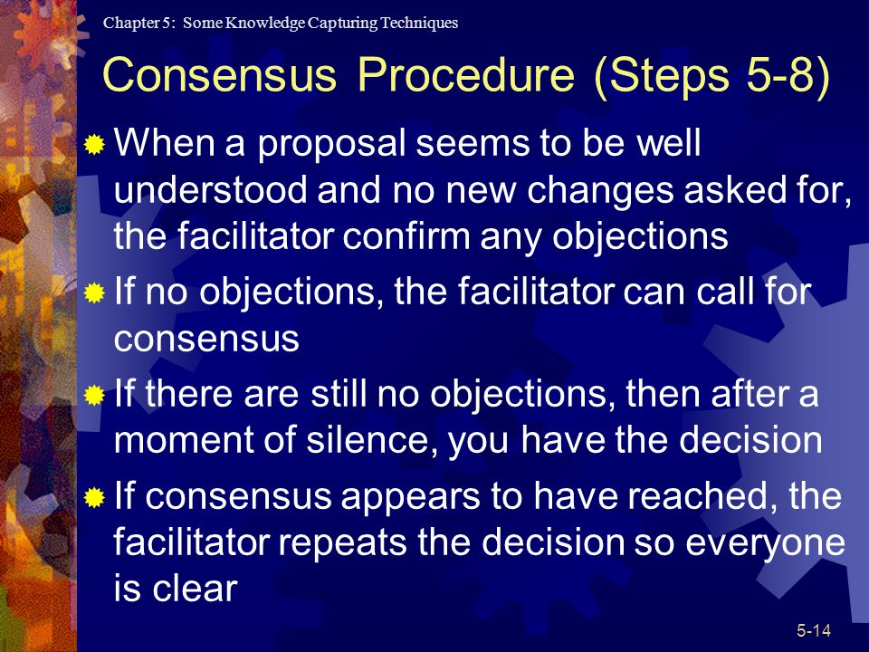 Consensus Procedure (Steps 5-8)