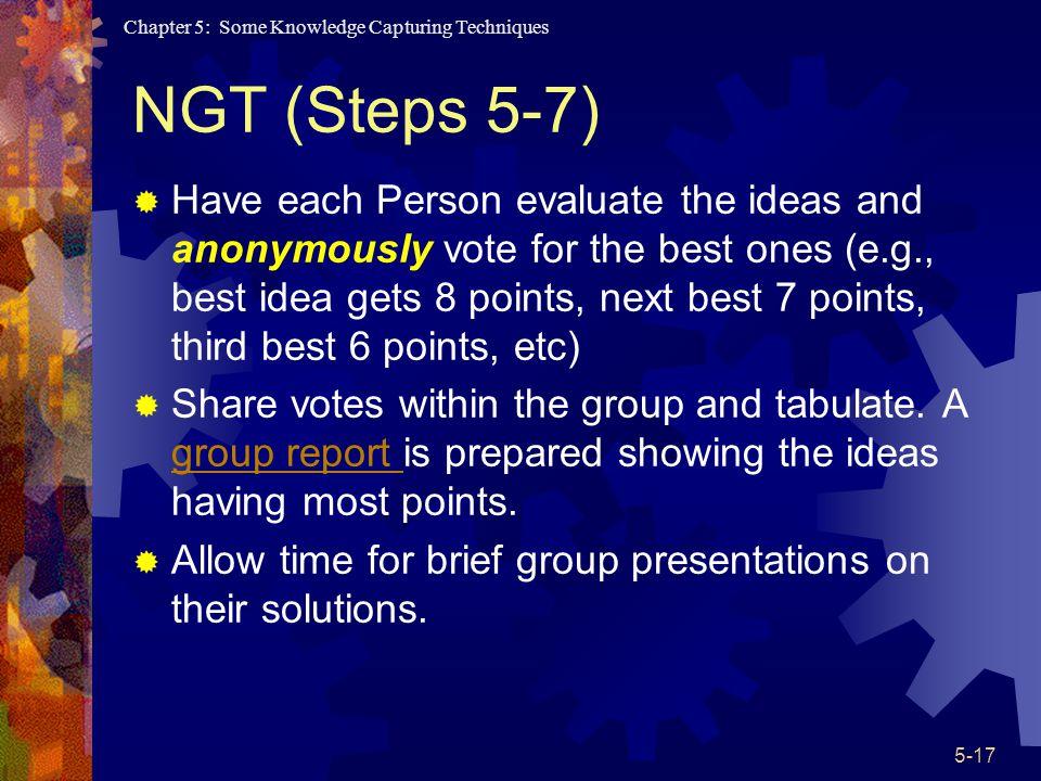 NGT (Steps 5-7)