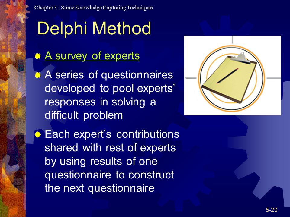 Delphi Method A survey of experts