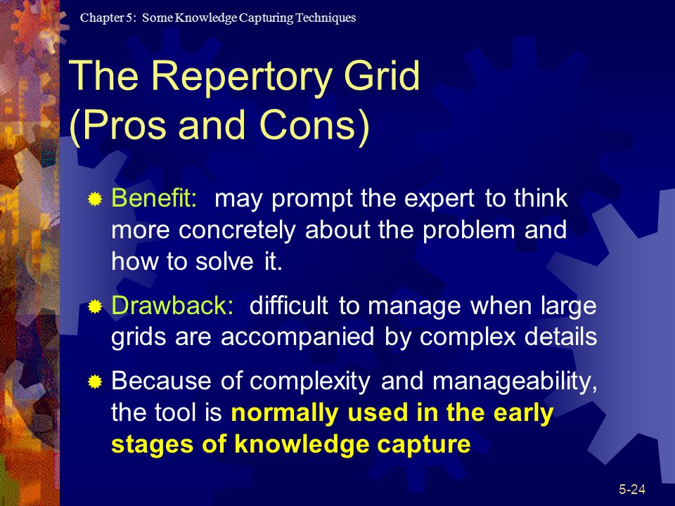 The Repertory Grid (Pros and Cons)