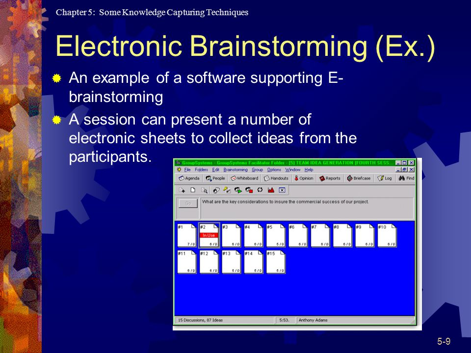 Electronic Brainstorming (Ex.)