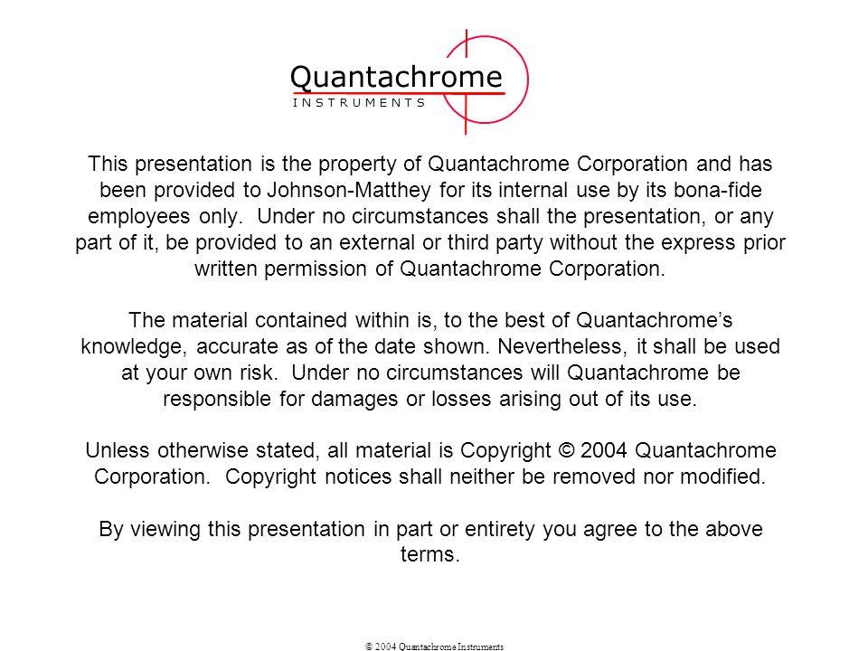 Quantachrome I N S T R U M E N T S.