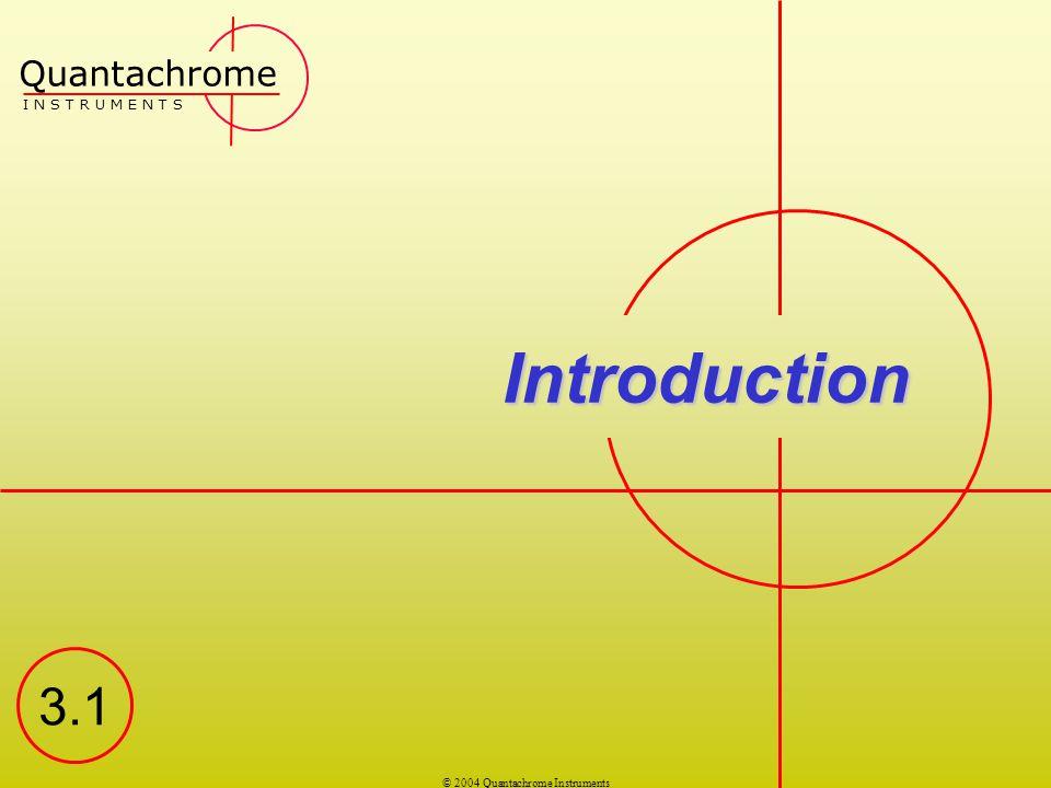 Quantachrome I N S T R U M E N T S Introduction 3.1