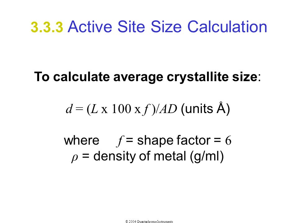 3.3.3 Active Site Size Calculation