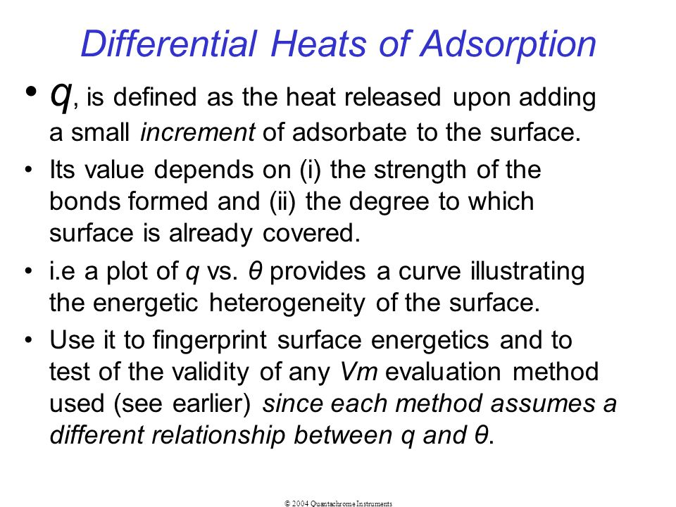 Differential Heats of Adsorption