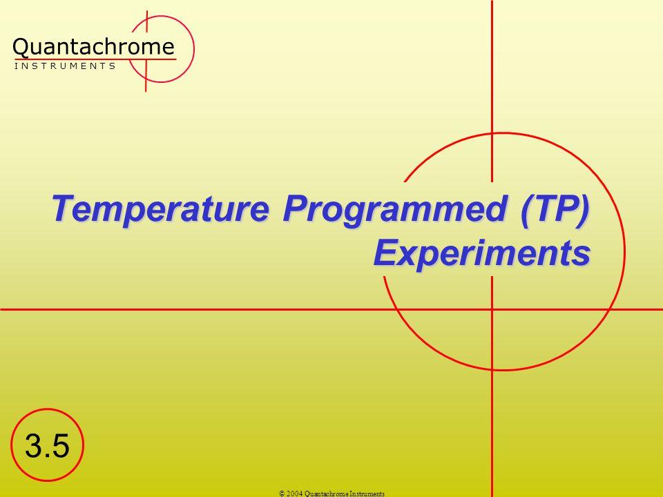 Temperature Programmed (TP) Experiments