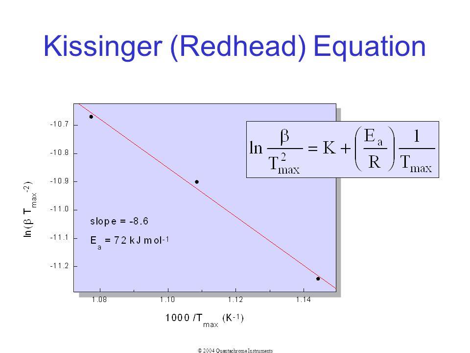 Kissinger (Redhead) Equation