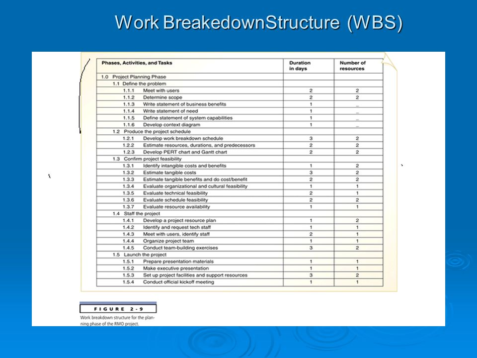 Work BreakedownStructure (WBS)