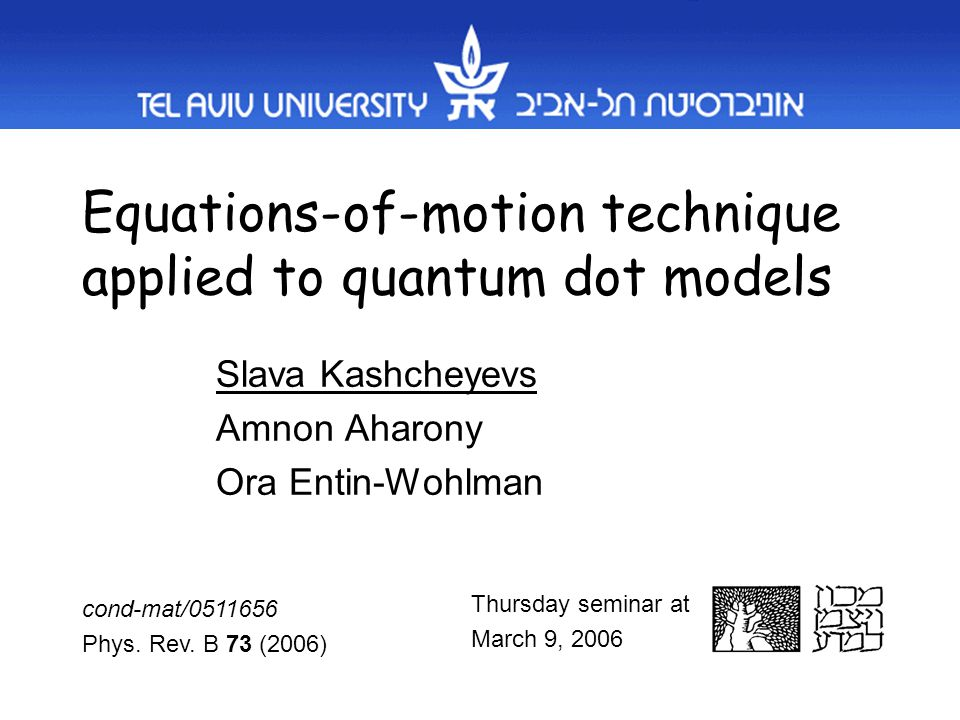 Equations-of-motion technique applied to quantum dot models