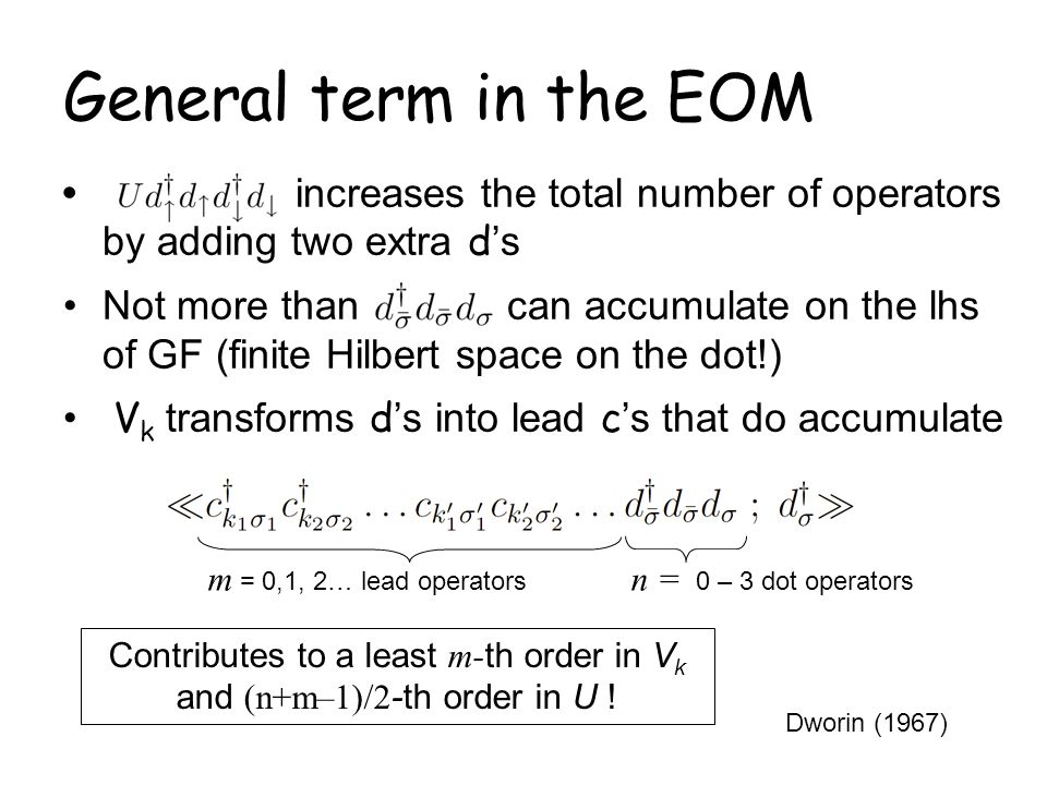 Contributes to a least m-th order in Vk and (n+m–1)/2-th order in U !