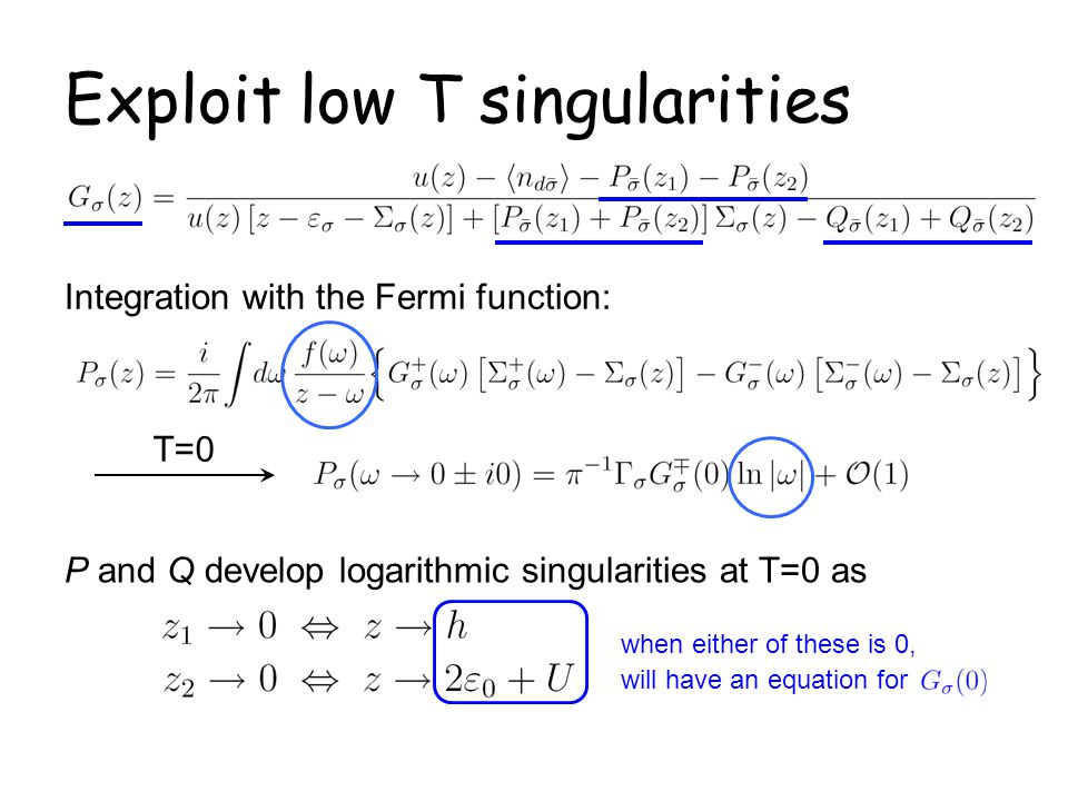 Exploit low T singularities