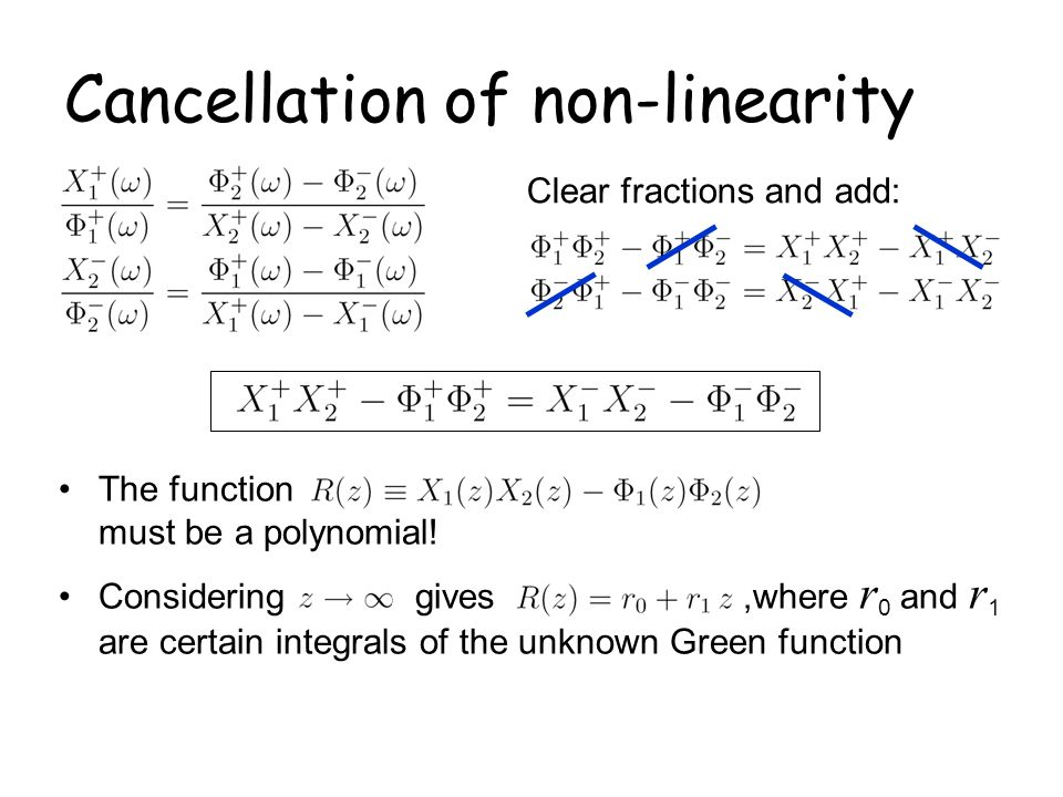 Cancellation of non-linearity