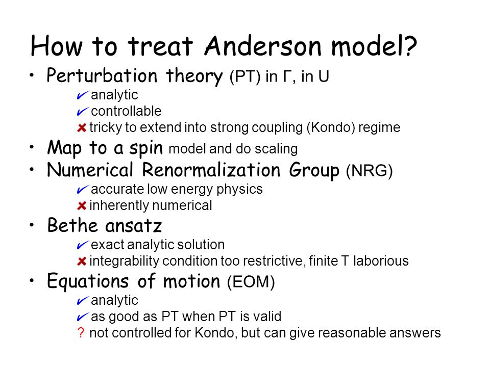 How to treat Anderson model