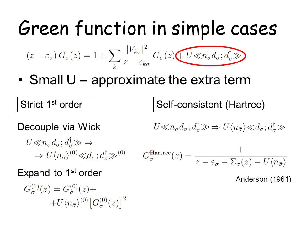 Green function in simple cases