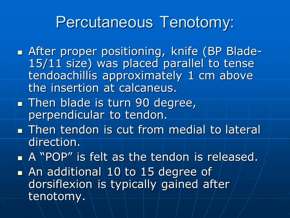 Percutaneous Tenotomy:
