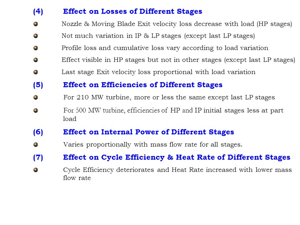 (4) Effect on Losses of Different Stages